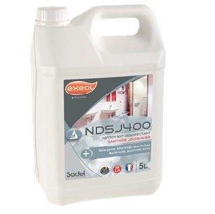Nettoyant désinfectant sanitaire journalier NDSJ400 en 5 litres