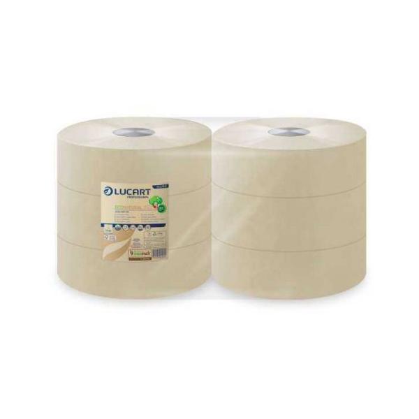 Lucart papier toilette rouleau jumbo econatural 350 m