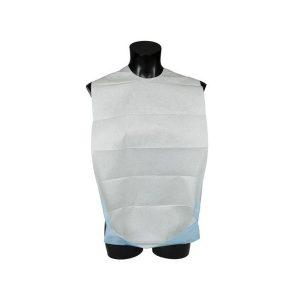 bavoir bleu avec poche sachet de 100