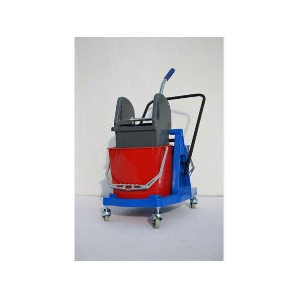 chariot lavage paul 2x15 l avec timon et presse a machoire