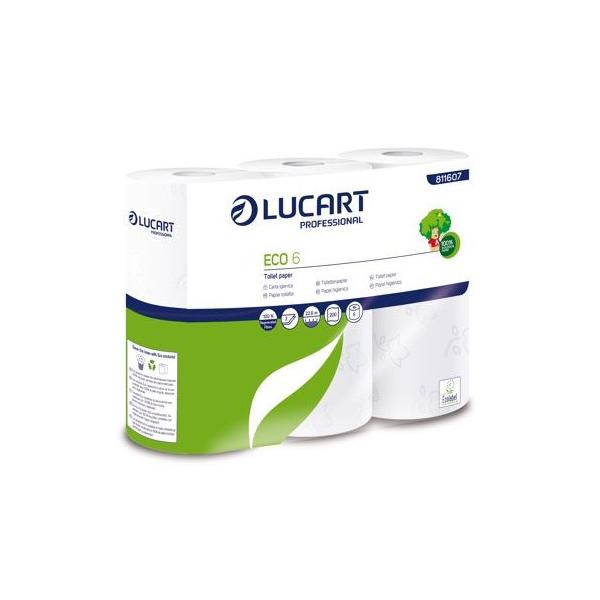 eco6 papier hygienique ecolucart petit rouleaux papier toilette