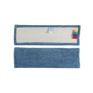 frange microfibre bleu eco plus velcro rectangulaire