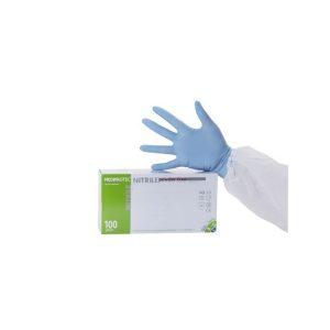 gant nitrile bleu non poudre extra large medical