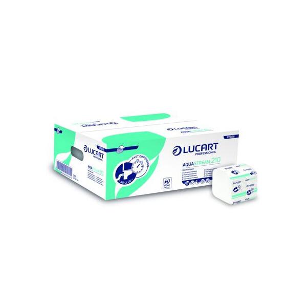 lucart papier toilette biodegradable plie feuille à feuille