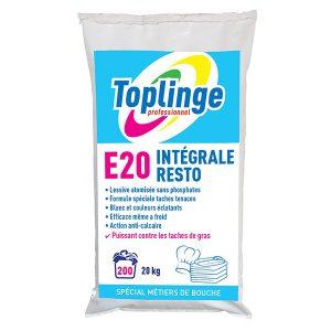 toplinge pro lessive poudre metiers bouche sac 20 kg