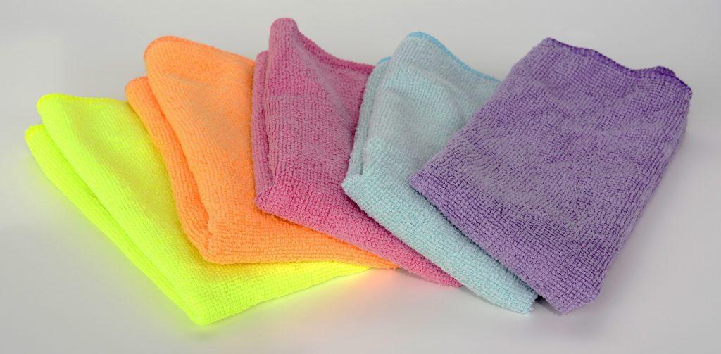 Panel de 4 lavettes microfibre